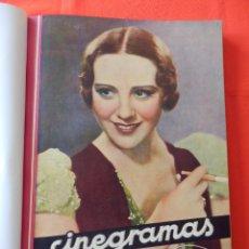 Cinema: LIBRO 12 REVISTAS CINEGRAMAS ENCUADERNADAS AÑOS 34/35 IMPECABLES GRETA GARBO GARY COOPPER DIETRICH... Lote 88165124