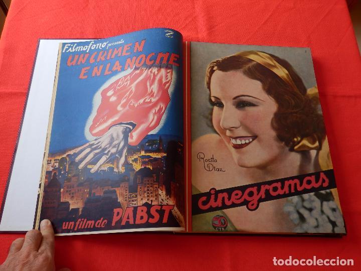 Cine: LIBRO 12 REVISTAS CINEGRAMAS ENCUADERNADAS AÑOS 34/35 IMPECABLES GRETA GARBO GARY COOPPER DIETRICH.. - Foto 3 - 88165124