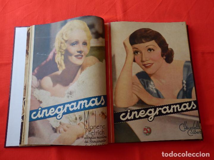 Cine: LIBRO 12 REVISTAS CINEGRAMAS ENCUADERNADAS AÑOS 34/35 IMPECABLES GRETA GARBO GARY COOPPER DIETRICH.. - Foto 4 - 88165124