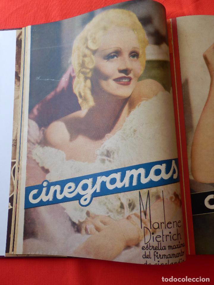 Cine: LIBRO 12 REVISTAS CINEGRAMAS ENCUADERNADAS AÑOS 34/35 IMPECABLES GRETA GARBO GARY COOPPER DIETRICH.. - Foto 5 - 88165124