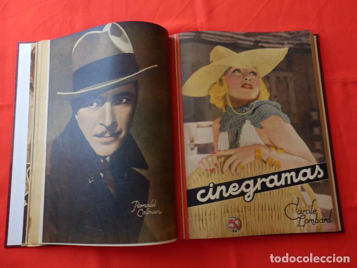 Cine: LIBRO 12 REVISTAS CINEGRAMAS ENCUADERNADAS AÑOS 34/35 IMPECABLES GRETA GARBO GARY COOPPER DIETRICH.. - Foto 6 - 88165124