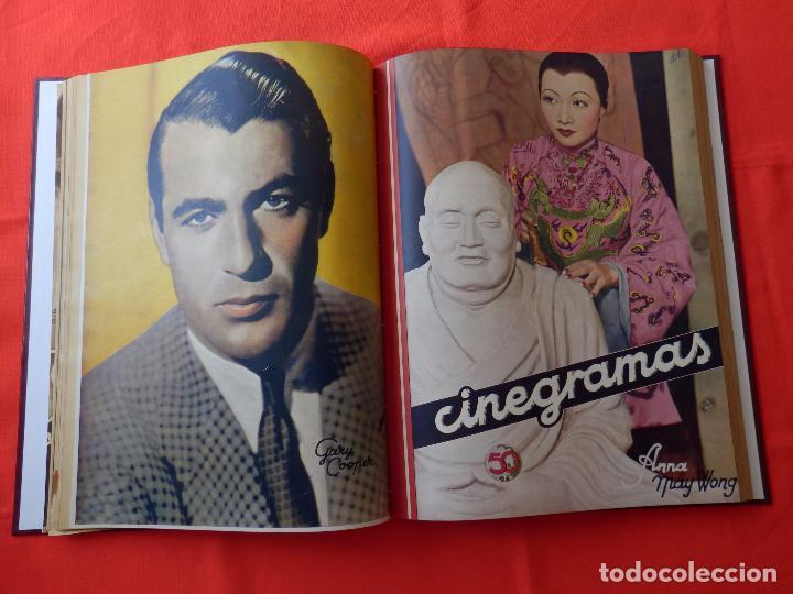 Cine: LIBRO 12 REVISTAS CINEGRAMAS ENCUADERNADAS AÑOS 34/35 IMPECABLES GRETA GARBO GARY COOPPER DIETRICH.. - Foto 7 - 88165124