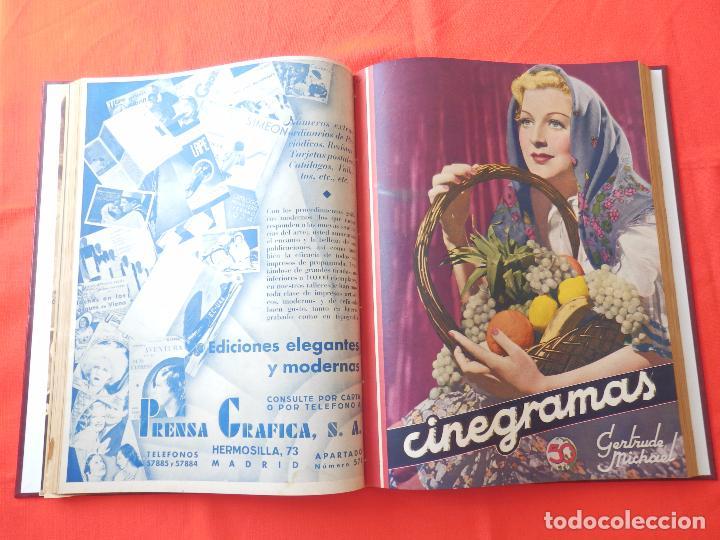 Cine: LIBRO 12 REVISTAS CINEGRAMAS ENCUADERNADAS AÑOS 34/35 IMPECABLES GRETA GARBO GARY COOPPER DIETRICH.. - Foto 8 - 88165124