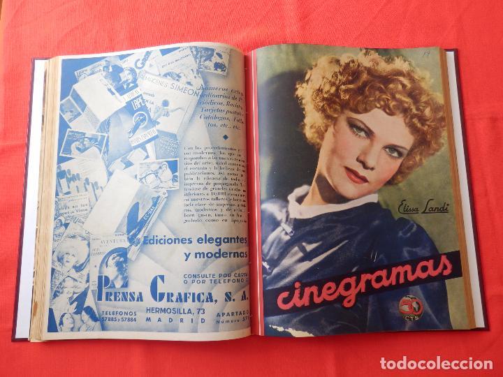 Cine: LIBRO 12 REVISTAS CINEGRAMAS ENCUADERNADAS AÑOS 34/35 IMPECABLES GRETA GARBO GARY COOPPER DIETRICH.. - Foto 9 - 88165124