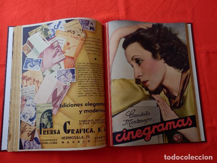 Cine: LIBRO 12 REVISTAS CINEGRAMAS ENCUADERNADAS AÑOS 34/35 IMPECABLES GRETA GARBO GARY COOPPER DIETRICH.. - Foto 10 - 88165124