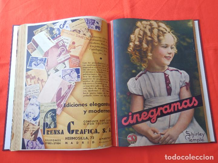 Cine: LIBRO 12 REVISTAS CINEGRAMAS ENCUADERNADAS AÑOS 34/35 IMPECABLES GRETA GARBO GARY COOPPER DIETRICH.. - Foto 11 - 88165124