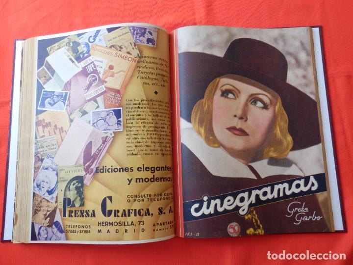 Cine: LIBRO 12 REVISTAS CINEGRAMAS ENCUADERNADAS AÑOS 34/35 IMPECABLES GRETA GARBO GARY COOPPER DIETRICH.. - Foto 12 - 88165124
