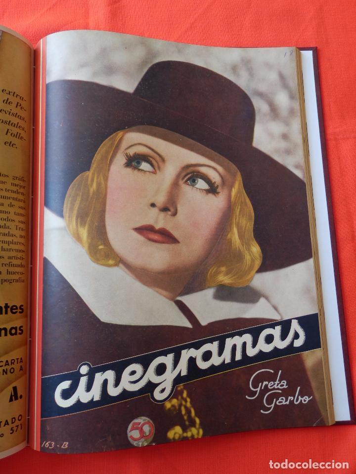 Cine: LIBRO 12 REVISTAS CINEGRAMAS ENCUADERNADAS AÑOS 34/35 IMPECABLES GRETA GARBO GARY COOPPER DIETRICH.. - Foto 13 - 88165124