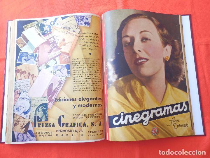 Cine: LIBRO 12 REVISTAS CINEGRAMAS ENCUADERNADAS AÑOS 34/35 IMPECABLES GRETA GARBO GARY COOPPER DIETRICH.. - Foto 14 - 88165124