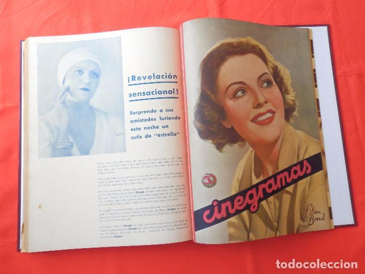 Cine: LIBRO 12 REVISTAS CINEGRAMAS ENCUADERNADAS AÑOS 34/35 IMPECABLES GRETA GARBO GARY COOPPER DIETRICH.. - Foto 15 - 88165124