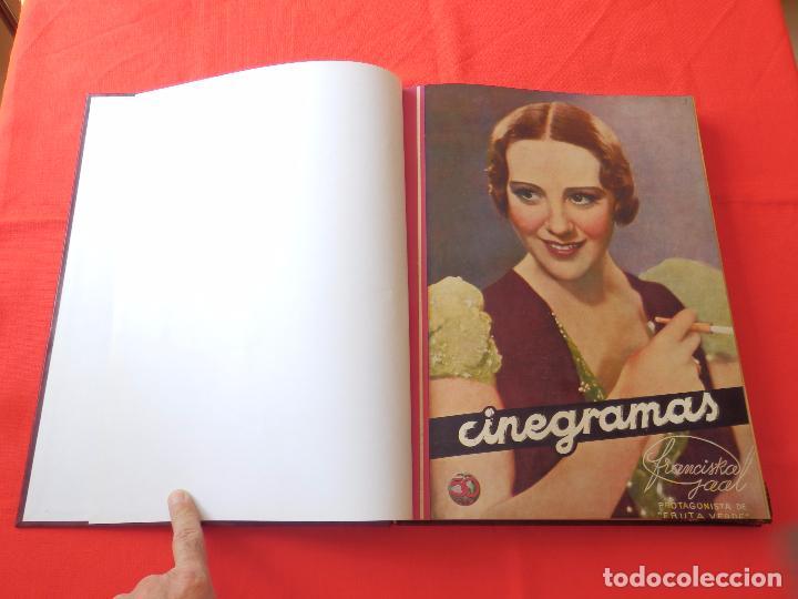 Cine: LIBRO 12 REVISTAS CINEGRAMAS ENCUADERNADAS AÑOS 34/35 IMPECABLES GRETA GARBO GARY COOPPER DIETRICH.. - Foto 16 - 88165124