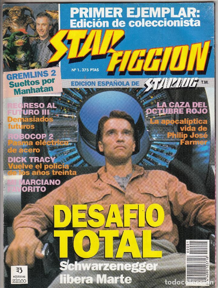 REVISTA STAR FICCION Nº 1. DESAFIO TOTAL SCHWARZENEGGER. GREMLINS 2. REGRESO AL FUTORO 3. (Cine - Revistas - Star Ficcion)