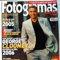 Cine: REVISTA DE CINE FOTOGRAMAS ENERO 2006-UN AÑO DE CINE 2005-CLOONEY-KING KONG-BROKEBACK MOUNTAIN-162 P. Lote 88900596
