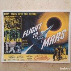 Cinema: REPRODUCCION - 9*13- FLIGHT TO MARS - ALBUM - CIENCIA FICCION. Lote 90228700