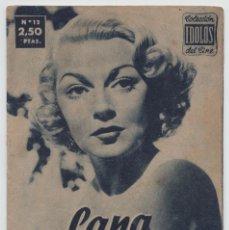 Cine: COLECCIÓN ÍDOLOS DEL CINE - Nº 12 - LANA TURNER - 1958. Lote 90333308