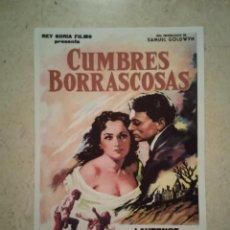 Cine: REPRODUCCION -9*13- CUMBRES BORRASCOSAS - ALBUM - MERLE OBERON. Lote 195058692
