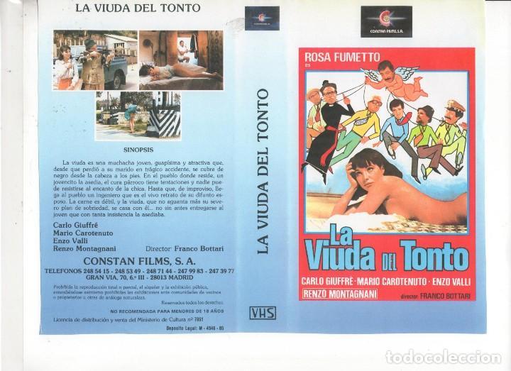 - REPRODUCCION CARATULA - LA VIUDA DEL TONTO (Cine - Revistas - Otros)