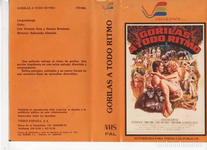 - REPRODUCCION CARATULA - ALTA RESOLUCION - GORILAS A TODO RITMO (Cine - Revistas - Otros)