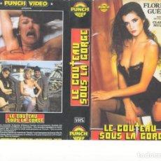 Cine: - REPRODUCCION CARATULA - LE COUTEAU SOUS LA GORGE. Lote 90752365
