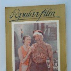 Cine: POPULAR FILM, Nº 66, 03-11-1927, EN PORTADA GRETA GARBO Y ANTONIO MORENO . Lote 90752590