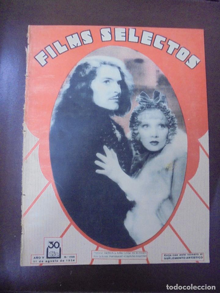 REVISTA CINE. FILMS SELECTOS. 11 AGOSTO 1934. AÑO V. Nº 200. (Cine - Revistas - Films selectos)