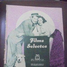 Cine: REVISTA CINE. FILMS SELECTOS. 28 JULIO 1934. AÑO V. Nº 198.. Lote 91344565