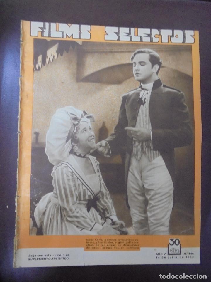 REVISTA CINE. FILMS SELECTOS. 14 JULIO 1934. AÑO V. Nº 196. (Cine - Revistas - Films selectos)