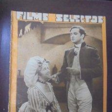 Cine: REVISTA CINE. FILMS SELECTOS. 14 JULIO 1934. AÑO V. Nº 196.. Lote 91344640