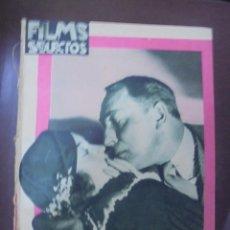 Cine: REVISTA CINE. FILMS SELECTOS. 26 MAYO 1934. AÑO V. Nº 189.. Lote 91345595