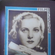Cine: REVISTA CINE. FILMS SELECTOS. 19 MAYO 1934. AÑO V. Nº 188.. Lote 91345745