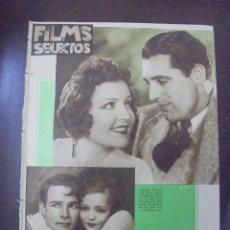 Cine: REVISTA CINE. FILMS SELECTOS. 5 MAYO 1934. AÑO V. Nº 186.. Lote 91346030