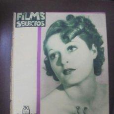 Cine: REVISTA CINE. FILMS SELECTOS. 28 ABRIL 1934. AÑO V. Nº 185.. Lote 91346090