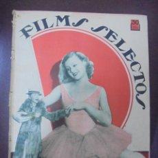 Cine: REVISTA CINE. FILMS SELECTOS. 14 ABRIL 1934. AÑO V. Nº 183.. Lote 91346290