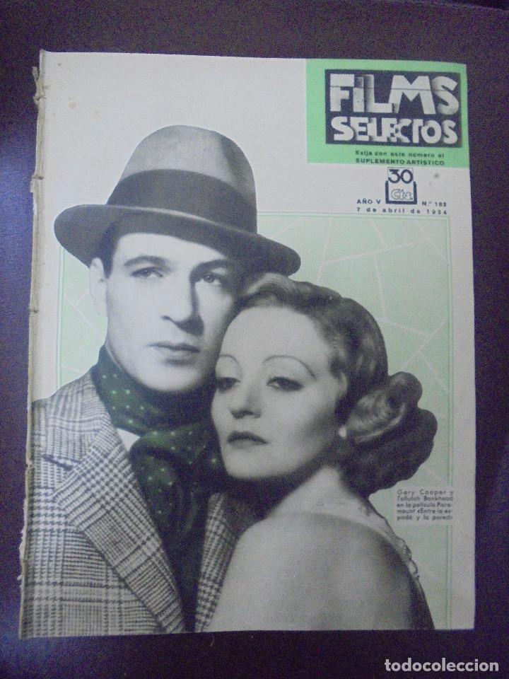 REVISTA CINE. FILMS SELECTOS. 7 ABRIL 1934. AÑO V. Nº 182. (Cine - Revistas - Films selectos)