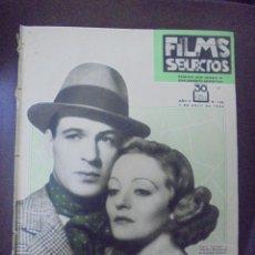 Cine: REVISTA CINE. FILMS SELECTOS. 7 ABRIL 1934. AÑO V. Nº 182.. Lote 91346330