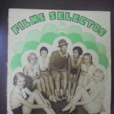 Cine: REVISTA CINE. FILMS SELECTOS. 6 AGOSTO 1932. AÑO III. Nº 95.. Lote 91346460