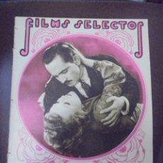 Cine: REVISTA CINE. FILMS SELECTOS. 7 MAYO 1932. AÑO III. Nº 82.. Lote 91347480