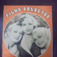 Cinema: REVISTA CINE. FILMS SELECTOS. 23 ABRIL 1932. AÑO III. Nº 80.. Lote 91348065