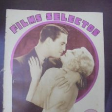 Cinema: REVISTA CINE. FILMS SELECTOS. 9 ABRIL 1932. AÑO III. Nº 78.. Lote 91348330