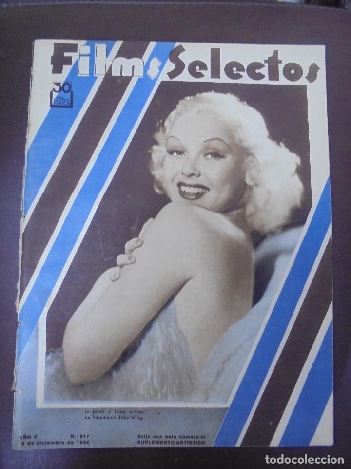 REVISTA CINE. FILMS SELECTOS. 15 DICIEMBRE 1934. AÑO V. Nº 217. (Cine - Revistas - Films selectos)
