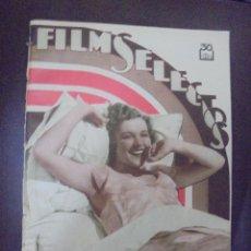 Cine: REVISTA CINE. FILMS SELECTOS. 8 DICIEMBRE 1934. AÑO V. Nº 216.. Lote 91350500