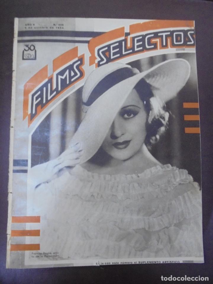 REVISTA CINE. FILMS SELECTOS. 6 OCTUBRE 1934. AÑO V. Nº 208. (Cine - Revistas - Films selectos)