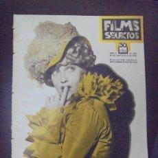 Cine: REVISTA CINE. FILMS SELECTOS. 22 SEPTIEMBRE 1934. AÑO V. Nº 206.. Lote 91351530