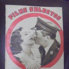 Cine: REVISTA CINE. FILMS SELECTOS. 15 SEPTIEMBRE 1934. AÑO V. Nº 205.. Lote 91351600