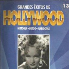 Cine: GRANDES ÉXITOS DE HOLLYWOOD LOTE DE 5 FASCÍCULOS. Lote 91638375