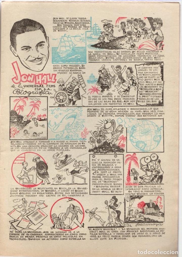 Cine: ALMANAQUE JUNIOR FILMS AÑO 1947. 12 DE DICIEMBRE DE 1946. Nº 17. BAGUÑA HNOS. - Foto 2 - 92003015