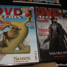 Cine: REVISTA DE CINE DVD ACCION,Nº 42 Y 43 SHREK. Lote 92263565