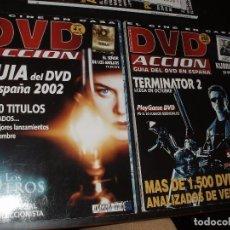 Cine: REVISTA DE CINE DVD ACCION,Nº 5 Y 17 TERMINATOR GUIA DE DVDS. Lote 92263665