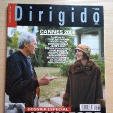 Cine: DIRIGIDO POR...Nº 379 JUNIO 2008 DOSSIER ESPECIAL JOHN FORD (2)- CANNES 2008 - GEORGE CLOONEY. Lote 92275285