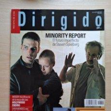 Cine: DIRIGIDO POR...Nº 315 SEPTIEMBRE 2002 MINORITY REPORT- ESPECIAL WESTERN 3ª PARTE. Lote 92447650